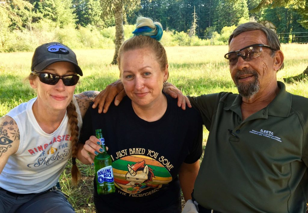 Firearms Academy of Seattle instructor Belle McCormack, the author, and Mas Ayoob