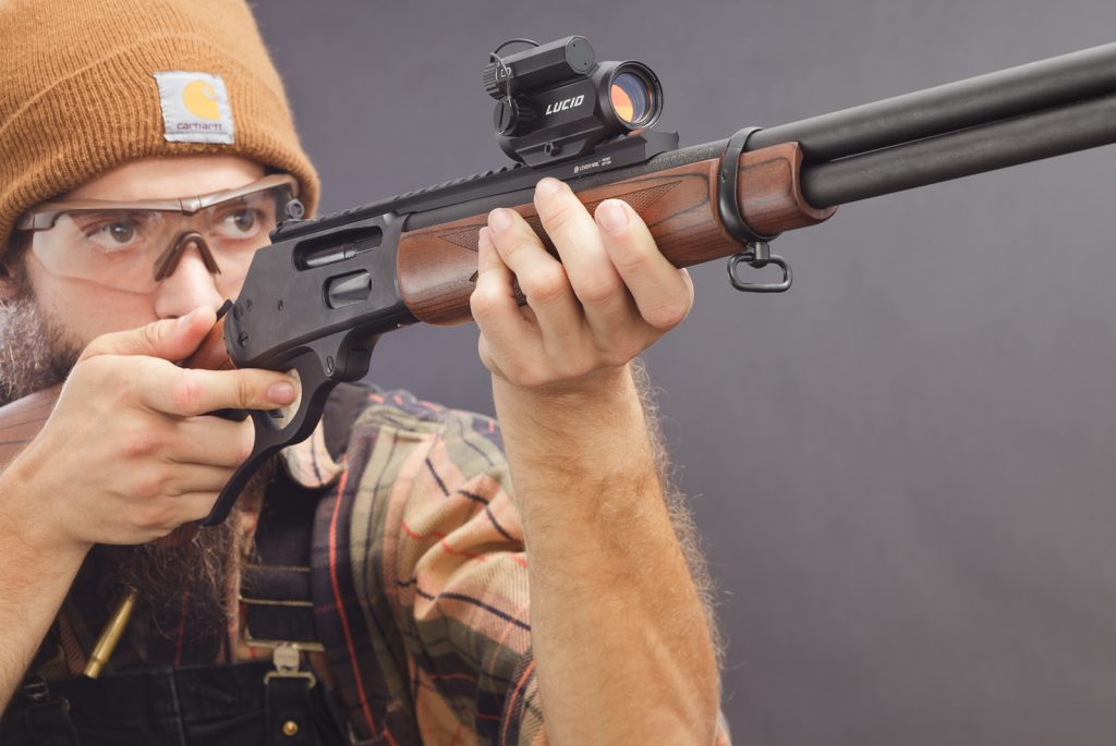Lucid M7 Micro Red Dot Sight on a Marlin 335 Lever Action