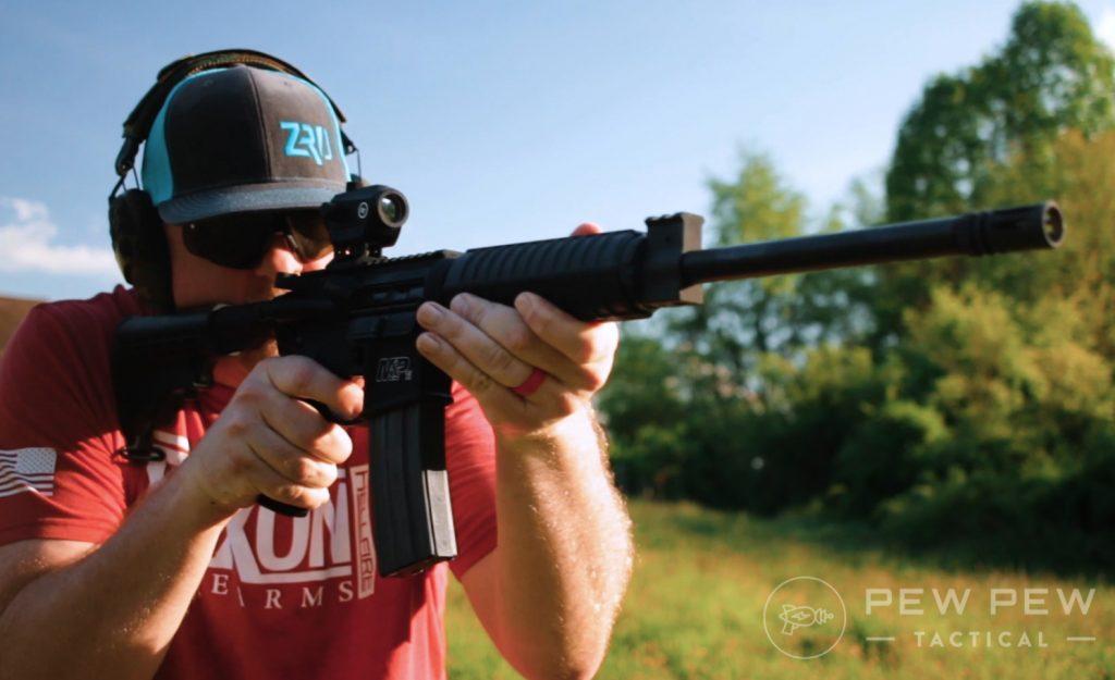 S&W M&P Sport II shooting