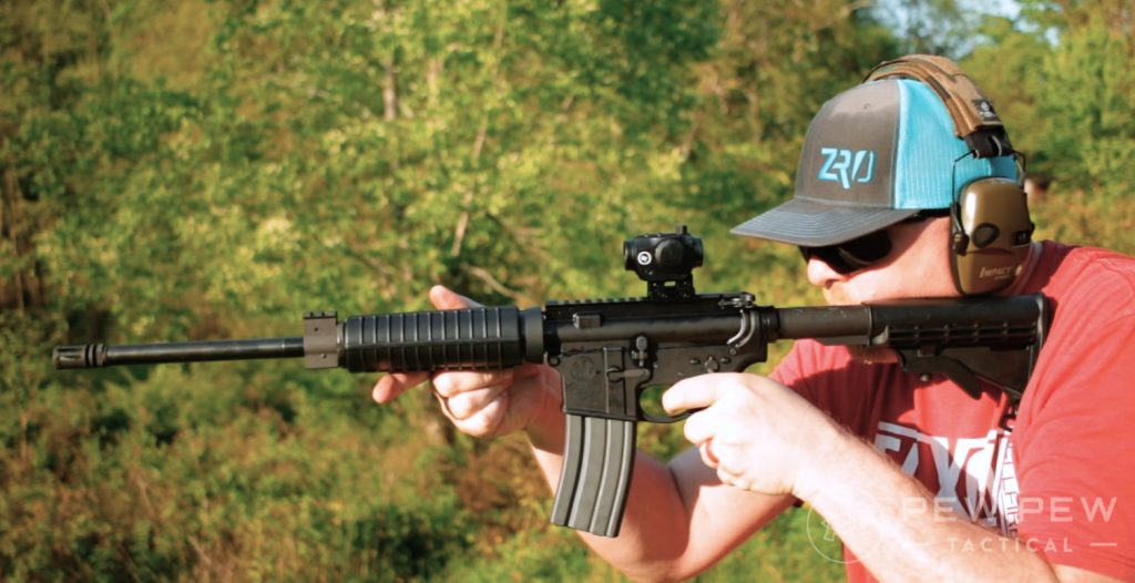 S&W M&P Sport II shooting in the hills