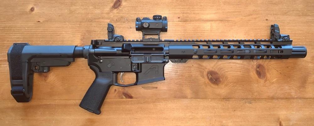 Sig Romeo MSR on an Aero pistol