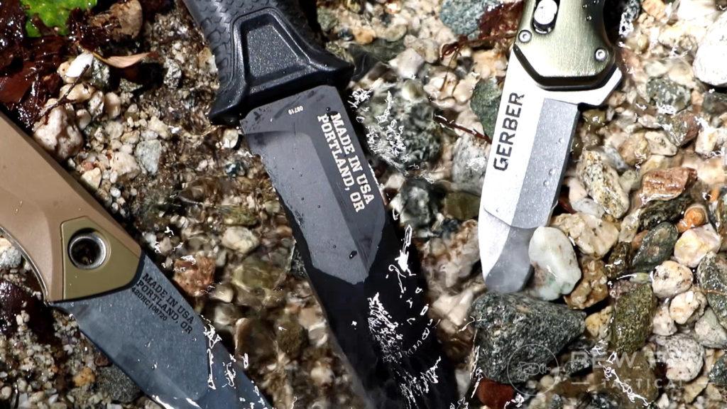 12. Gerber Knives in River