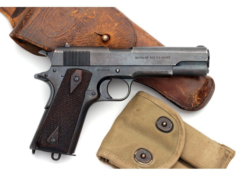 1911 with holster and mag pouch