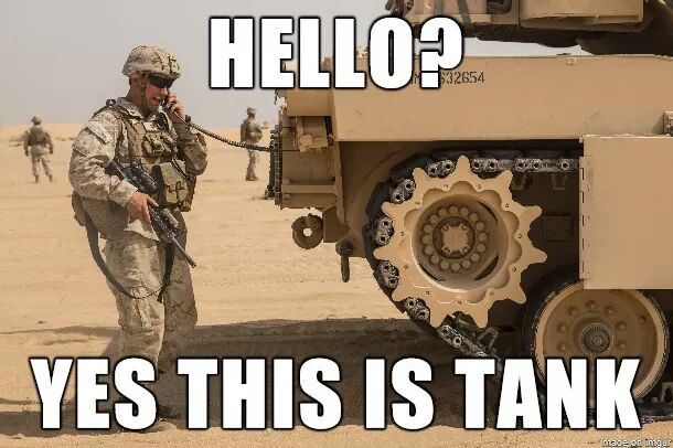 Hello Yes this is Tank meme
