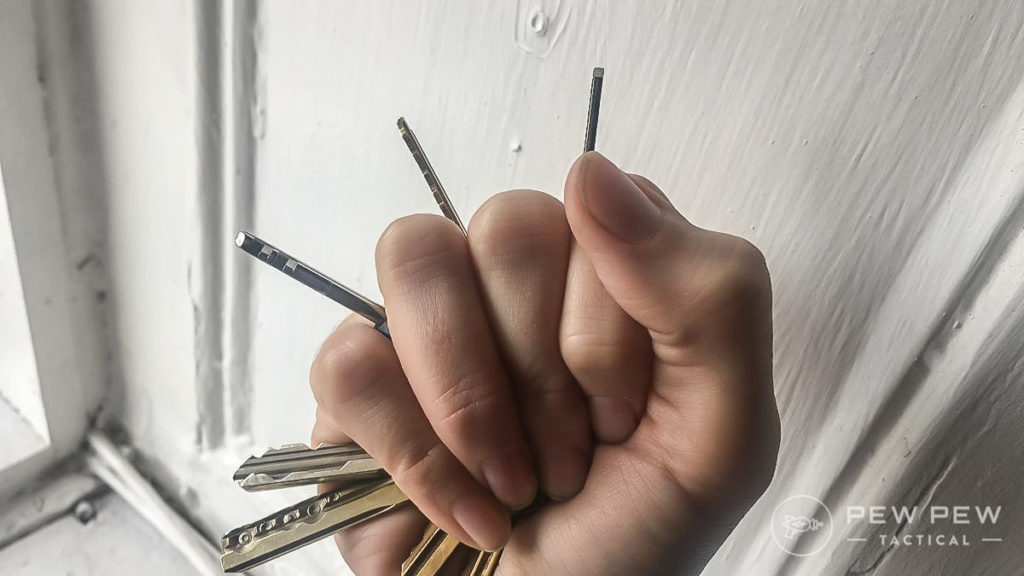 Keys between your fingers