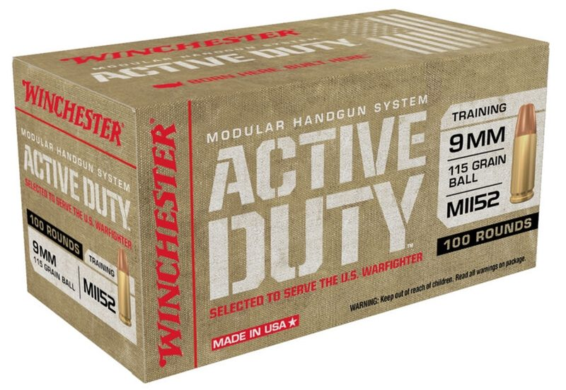 Winchester Active Duty 115gr 9mm