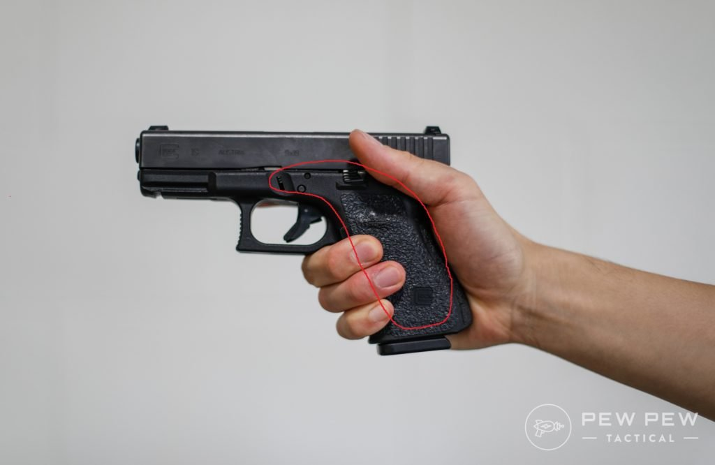 Handgun Grip Empty Left Side