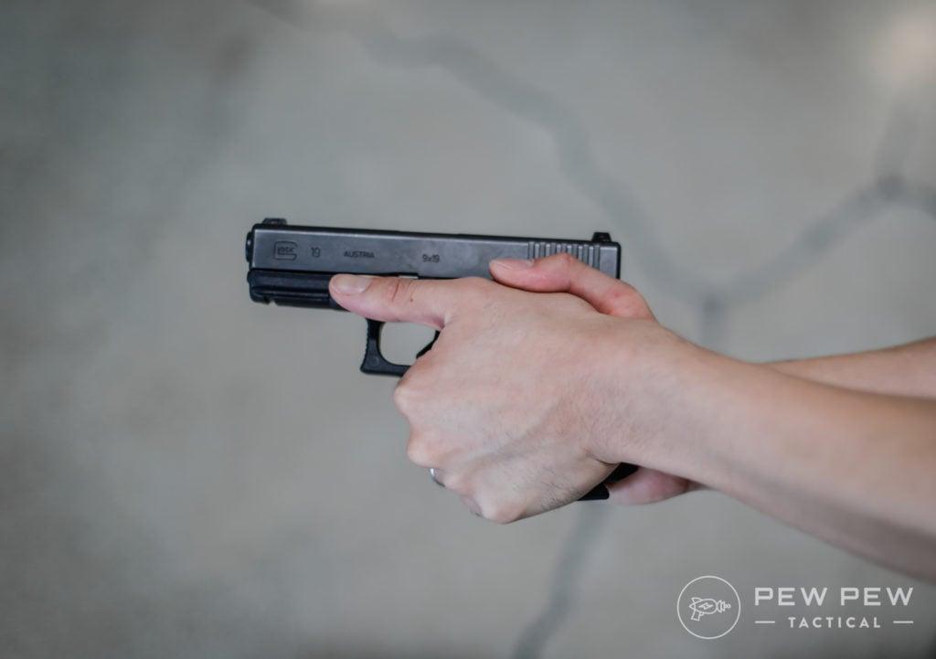 Handgun Grip, Thumb Down