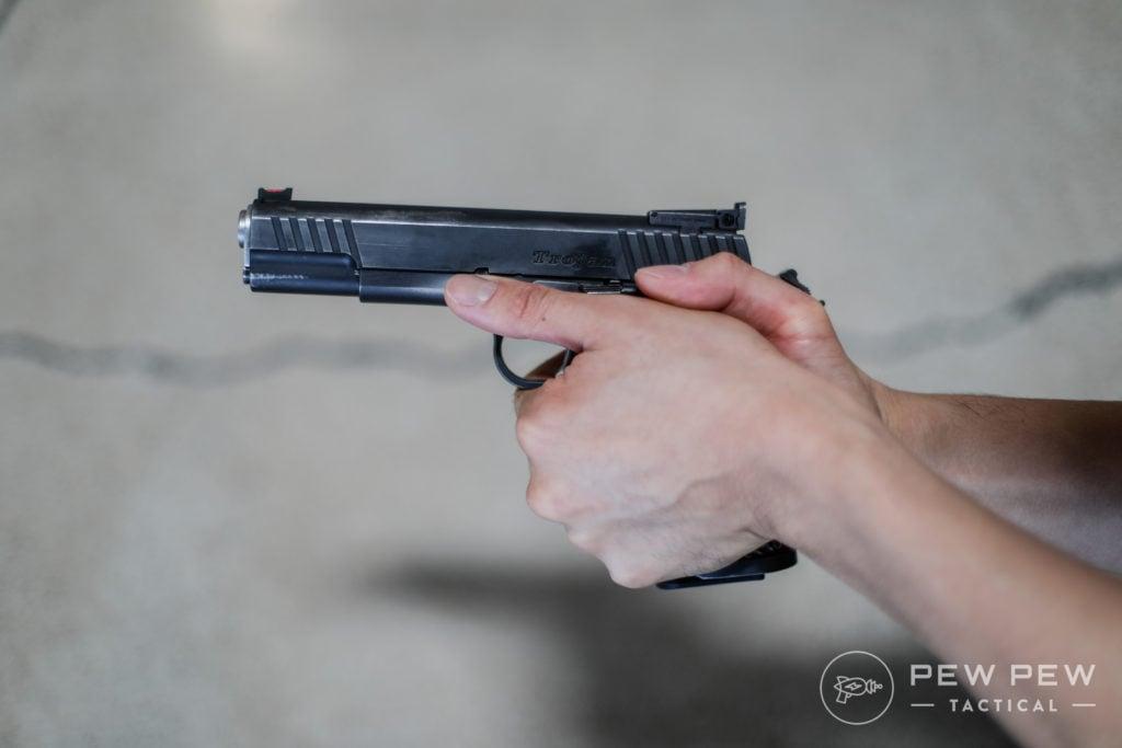 Handgun Grip, 1911 Safety Shelf