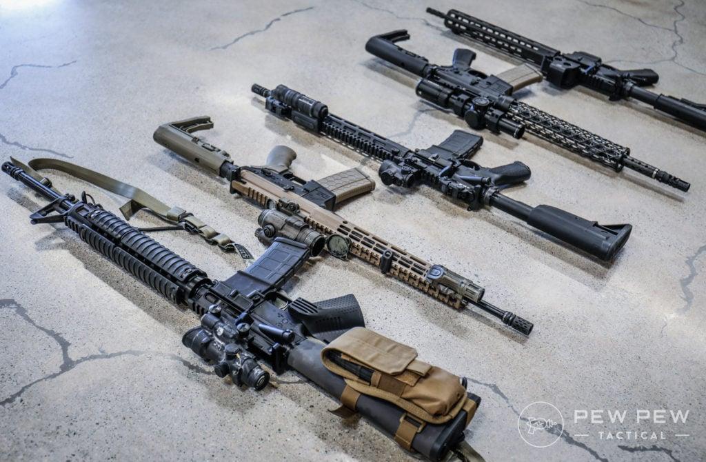Modded AR-15s