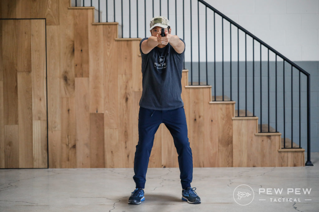 Isosceles Shooting Stance, Front