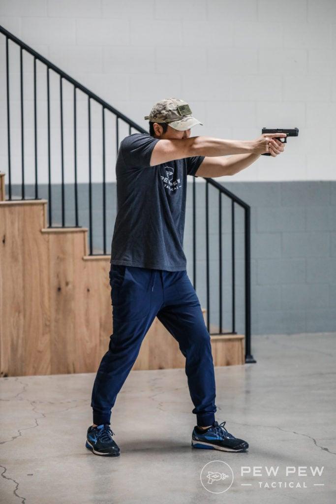 Chapman Shooting Stance, Side