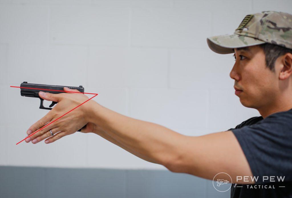 Handgun Grip Wrist Angle