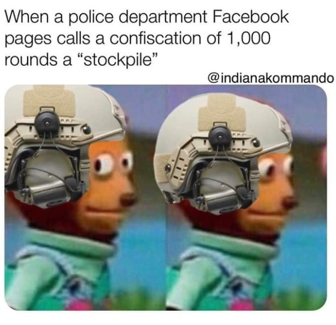 Ammo stock pile meme 2