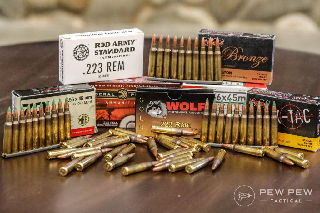 Popular 5.56 and .223 Ammo