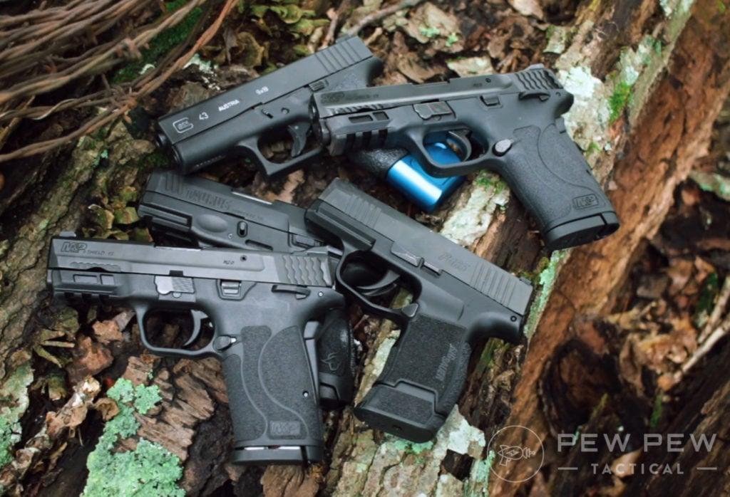 Shield EZ, Sig Sauer P365, Glock 43