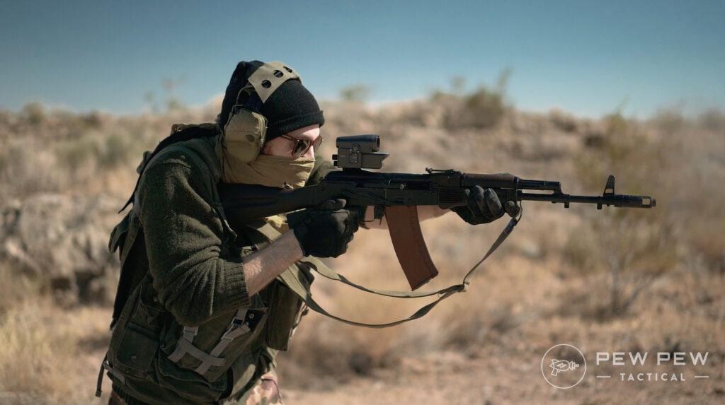 Lancaster Arms Rough Rider AK-74 Shooting