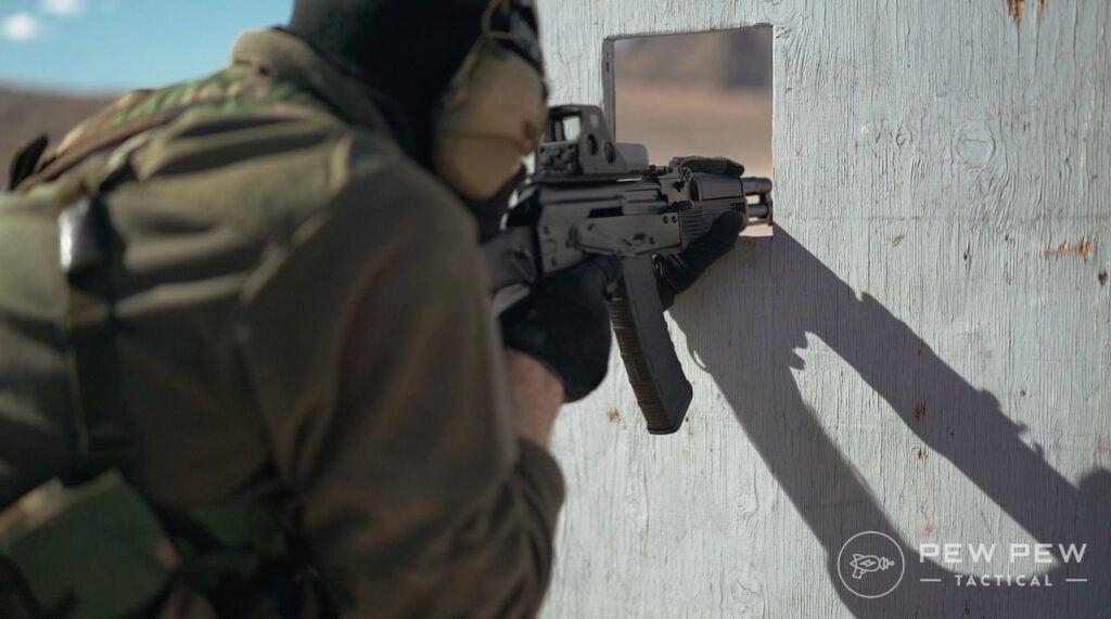PSA AK74 Shooting Through Barricade