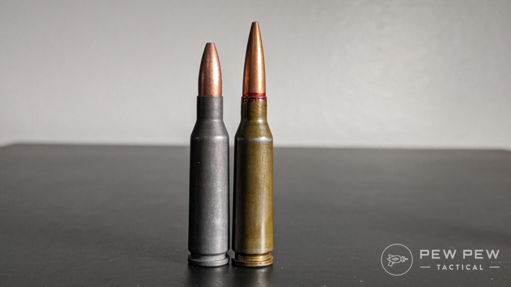 Left to right: Wolf 5.45x39mm and 7N6