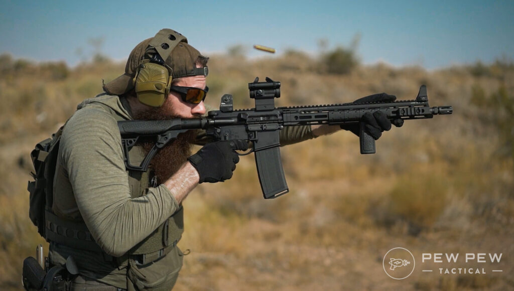 Aimpoint Comp M5 Shooting at range
