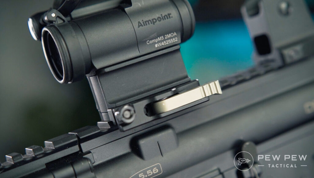 Aimpoint Comp M5 Throw Lever