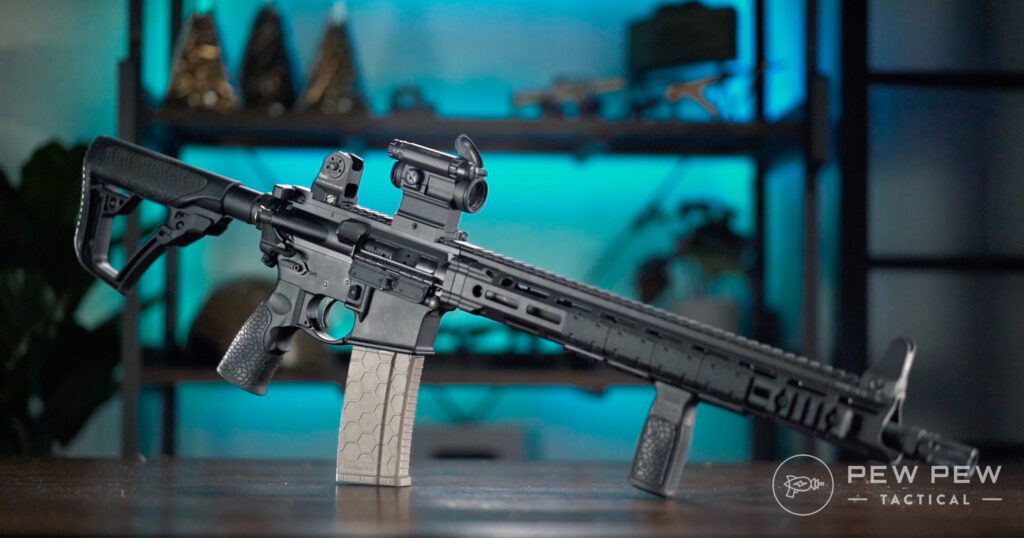 Aimpoint Comp M5 On Rifle