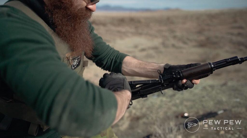 Lancaster Arms Rough Rider AK-74 Clearing Jam