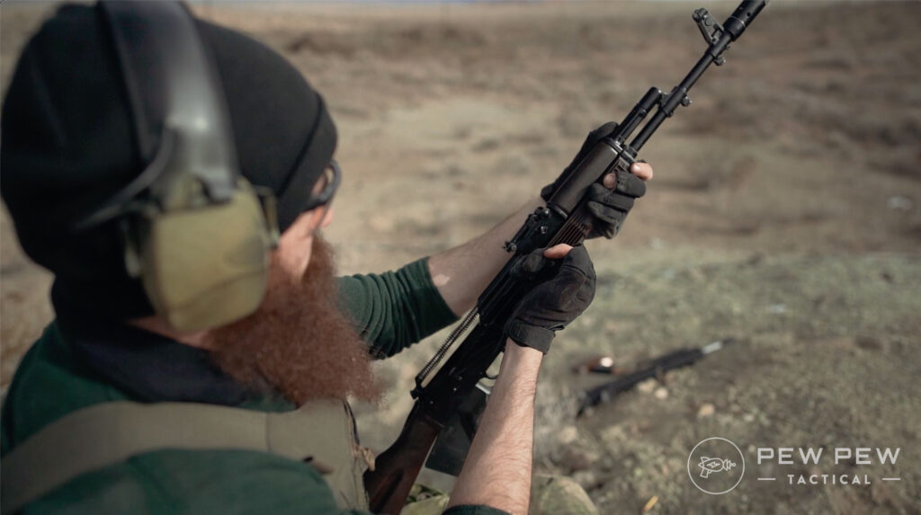 Lancaster Arms Rough Rider AK-74 Clearing Jams