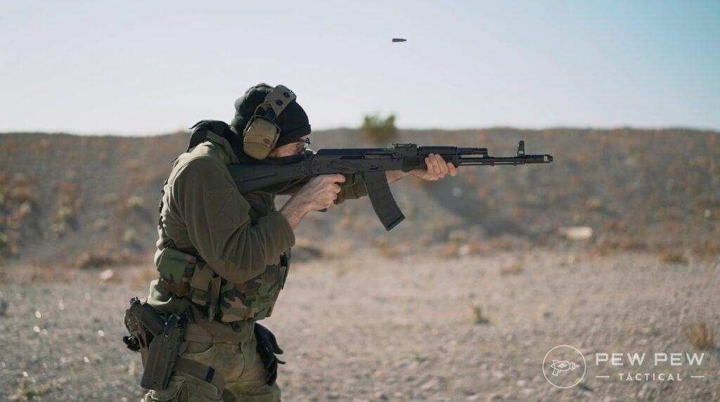 PSA AK74 Shooting Right Side