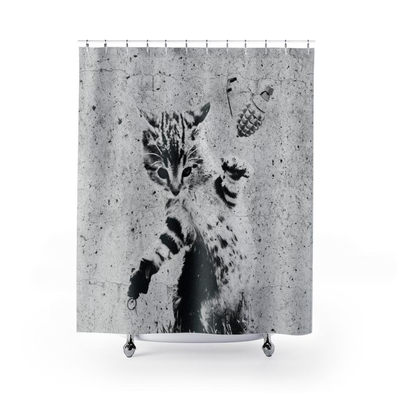 Arm the Animals Catastrophe Shower Curtain