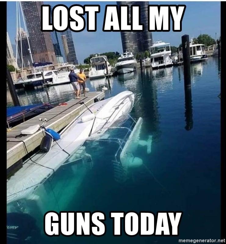 Boating Accident Meme Underwater