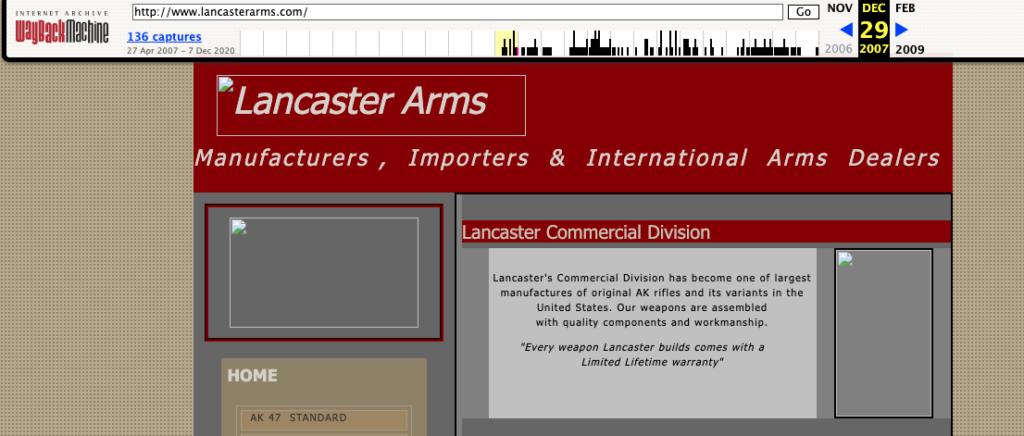 Lancaster Arms Website 2007