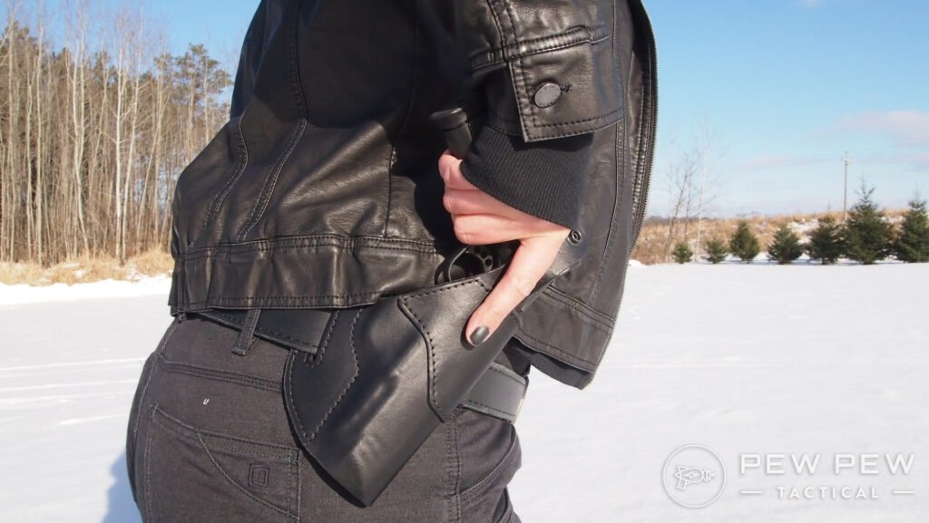 Full Size OWB Carry with a Jacket