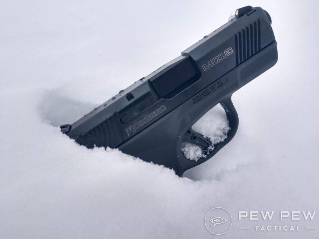 Mossberg MC1 SC in the Snow
