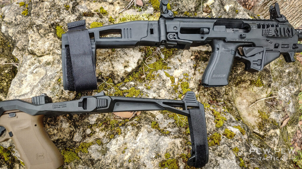 Roni and Recover Tactical 20/20 braces side by side