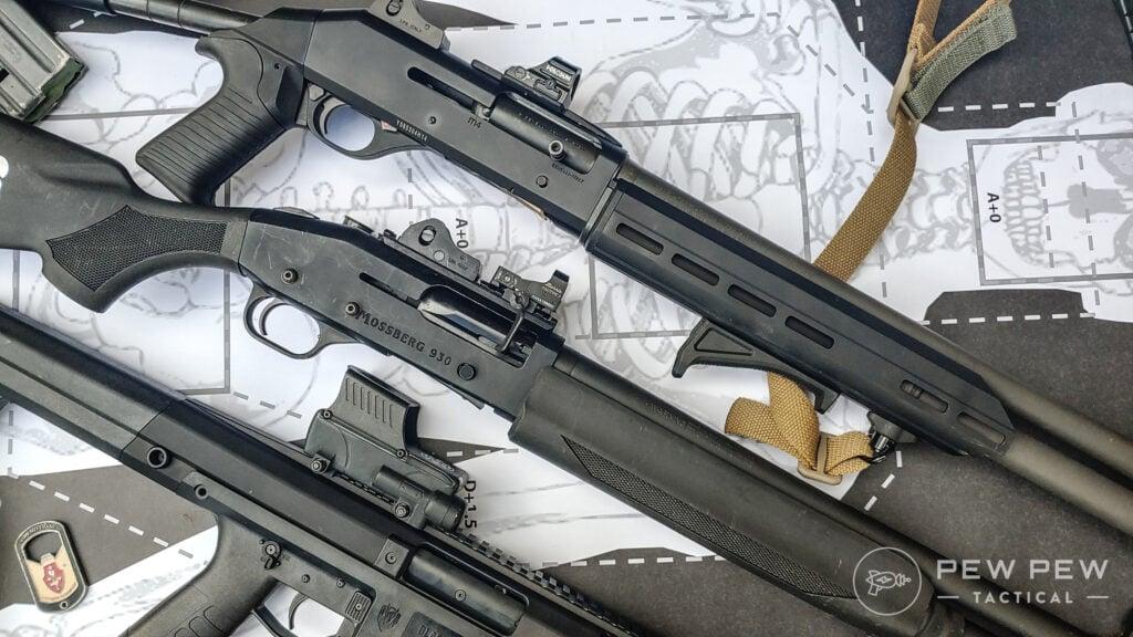 Multiple Shotguns with Optics