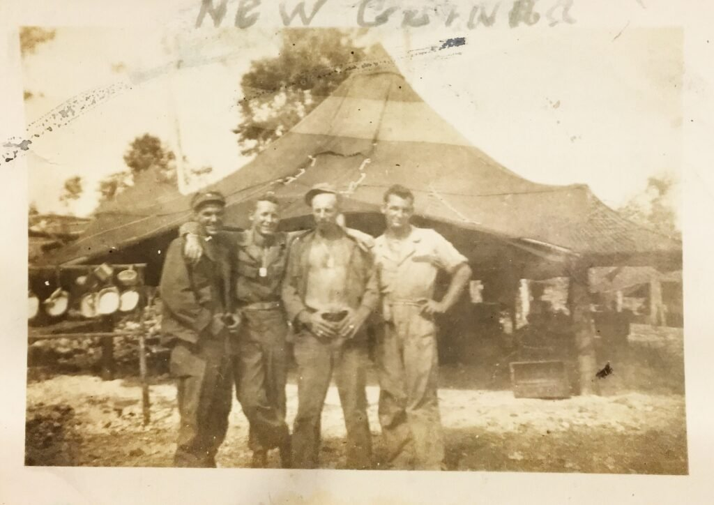 Ted White in New Guinea