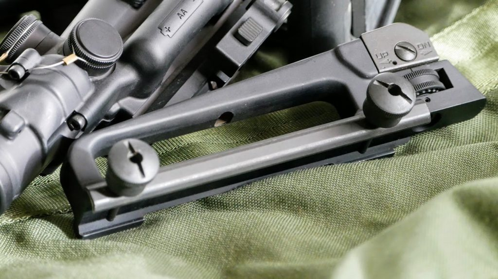 M16 Carry handle and rear sight
