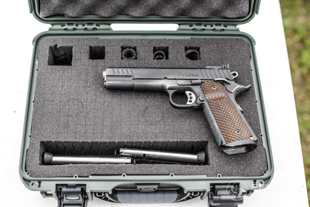 Nanuk 910 with 1911 and Suppressors