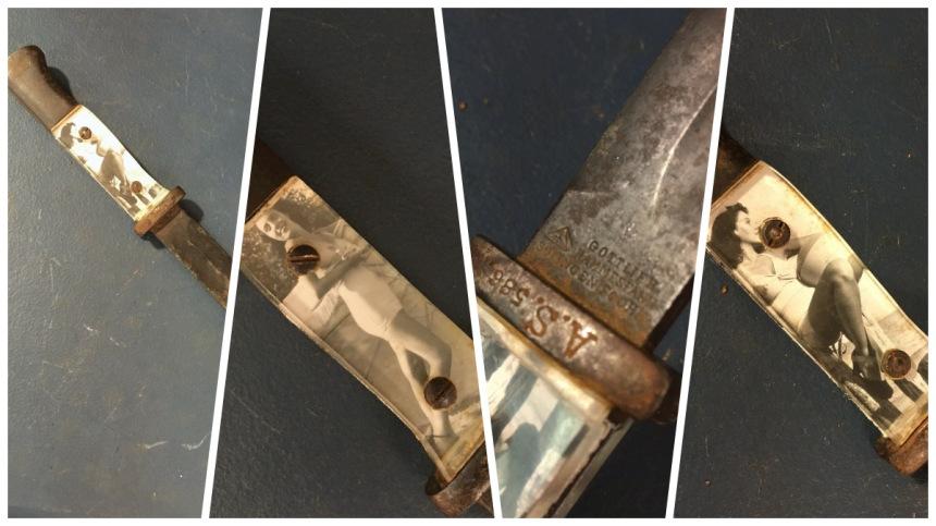 Sweetheart grips on a knife