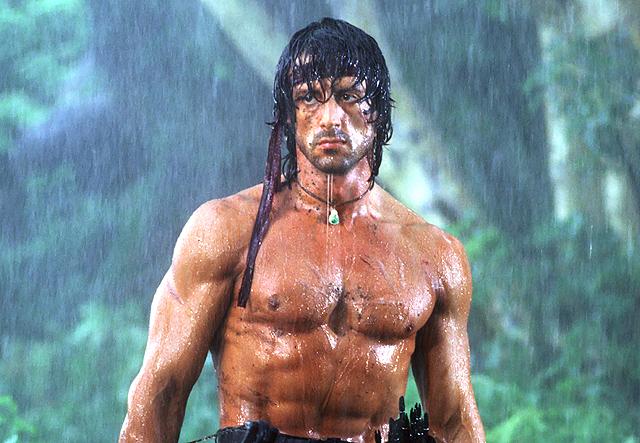 Rambo in the rain