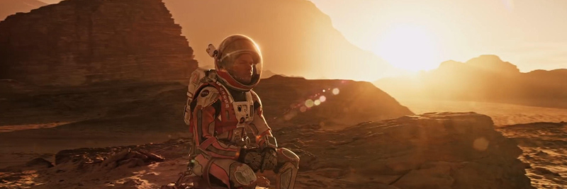 The Martian seated