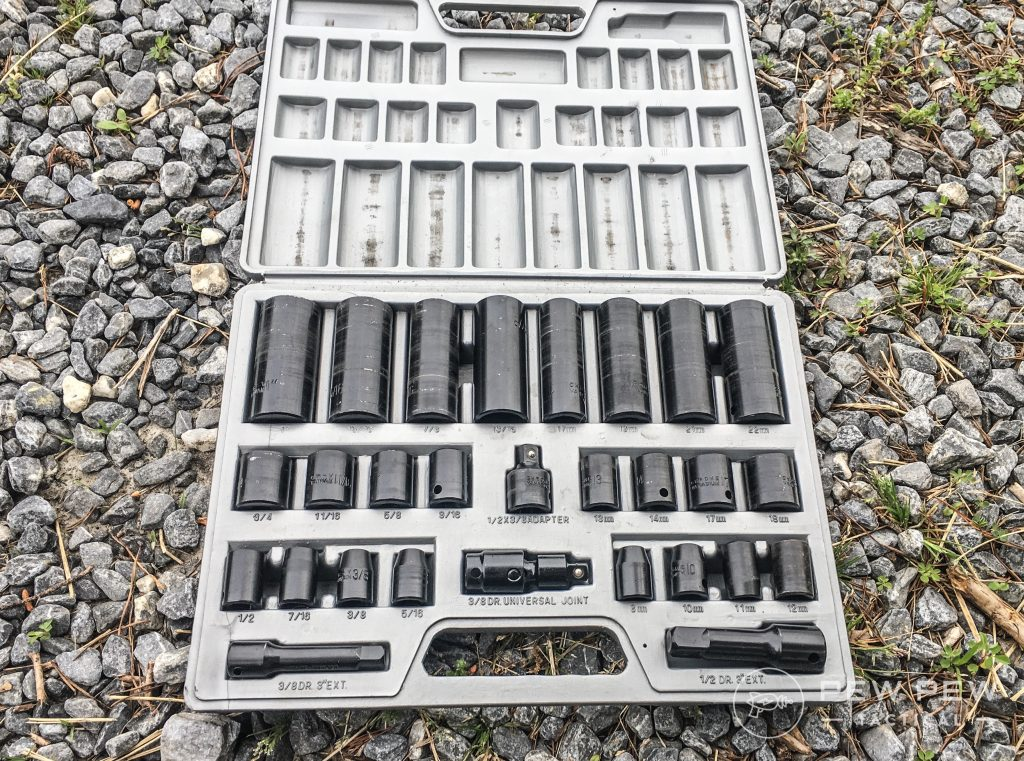 11. Prep Garage Socket Wrenches