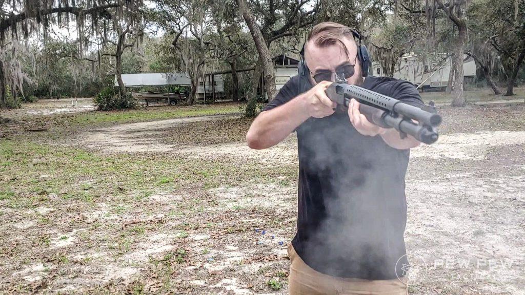 Mossberg Retrograde 590A1 Shooting Front