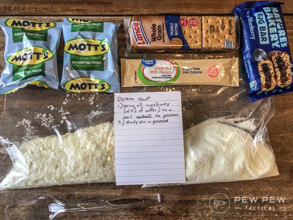 DIY MRE Potato Soup Ingredients