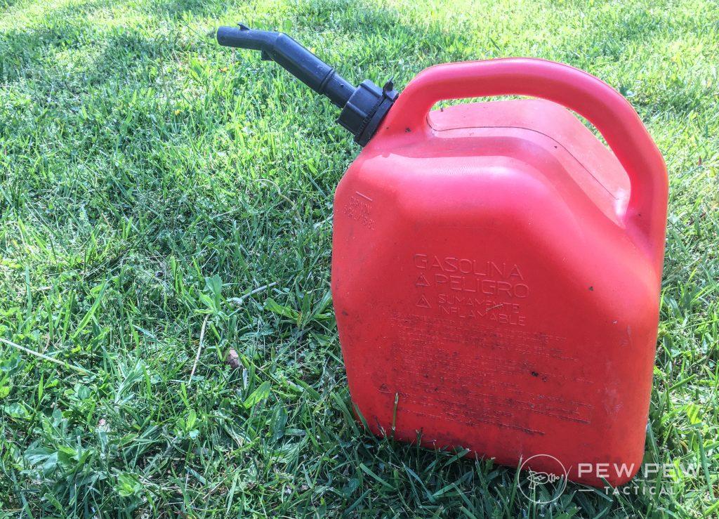 4. Prep Garage Gas Can