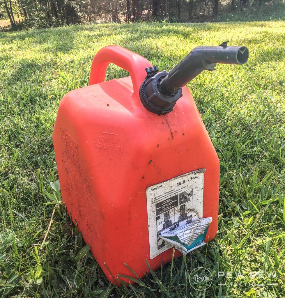 5. Prep Garage Gas Can