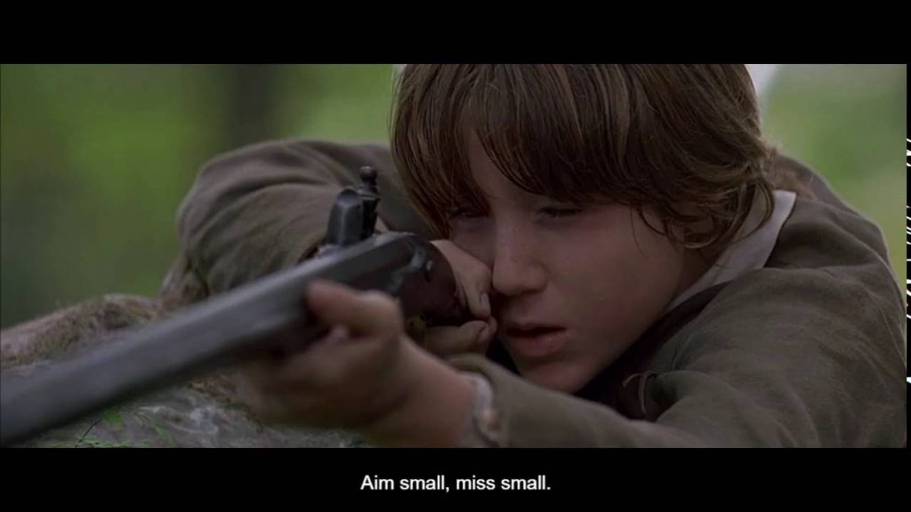 Aim small, miss small The Patriot