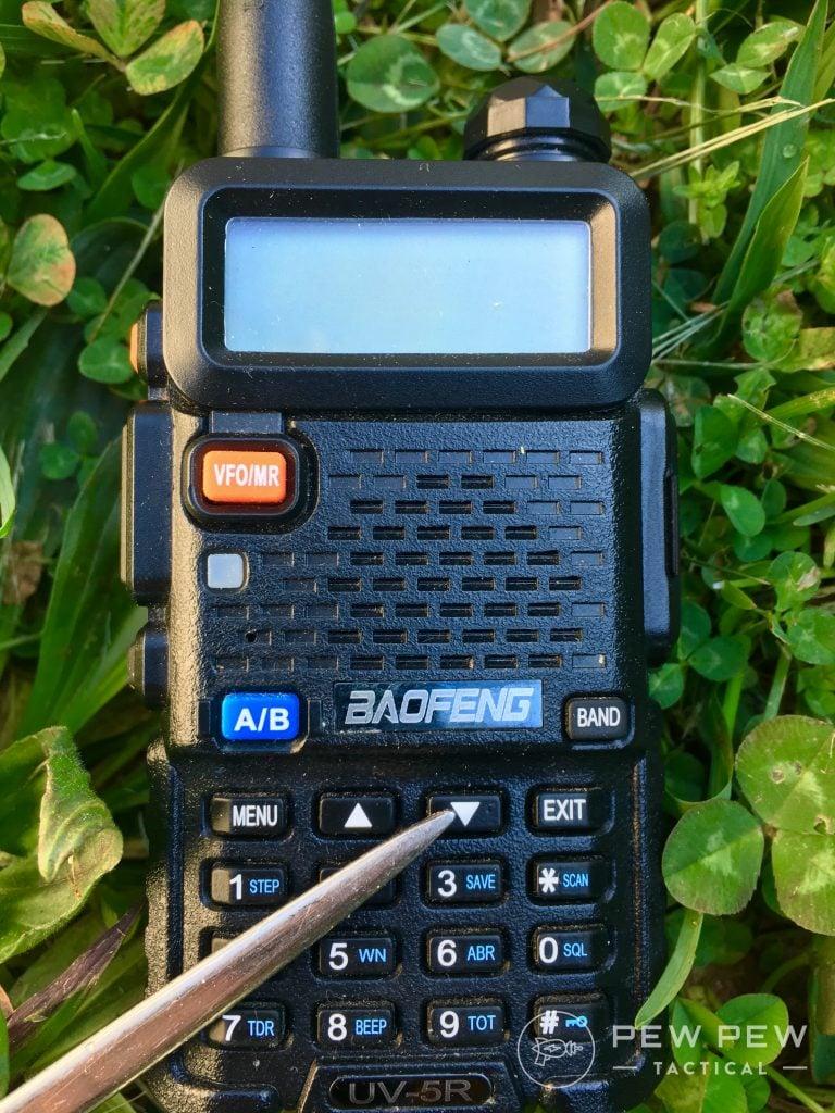 Baofeng UV-5R Channel adjustment