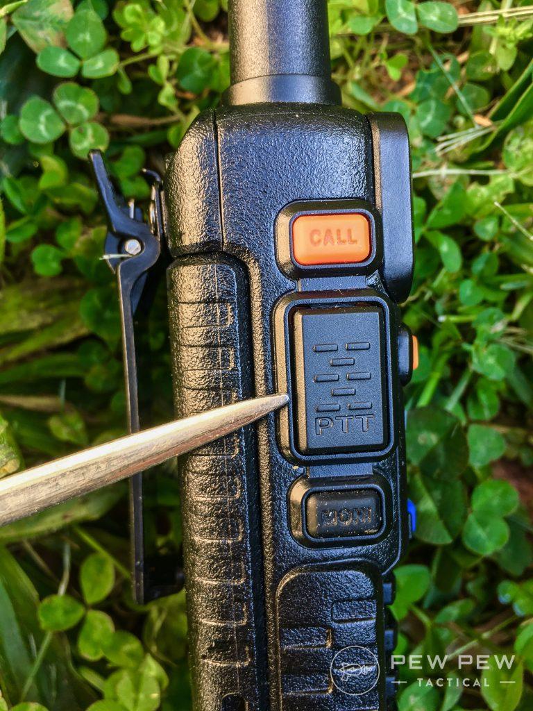 Baofeng UV-5R PTT button